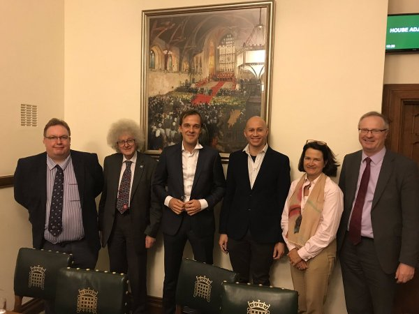 MORU's Rob van der Pluijm (centre) presents TRAC II results at the APPG malaria and NTDs in Westminster. Photo: Andrea Stewart