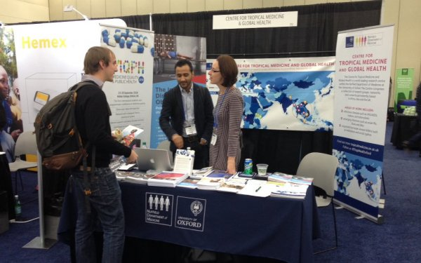 IDDO stand at ASTMH