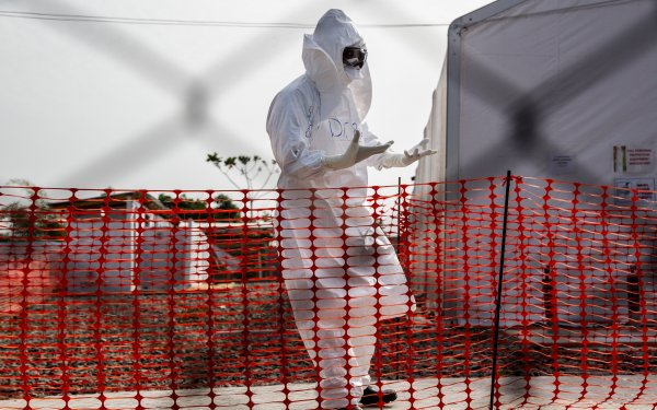 Ebola treatment unit, Liberia
