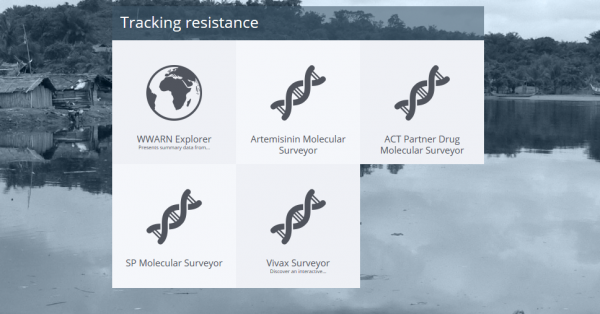 Screenshot of WWARN tracking resistance page